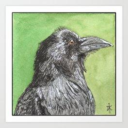 Majestic Raven Art Print