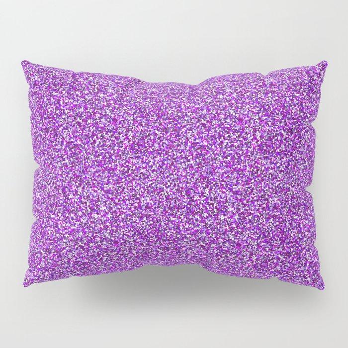 Purple Moondust Glitter Pattern Pillow Sham