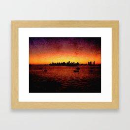 Miami Grunge Framed Art Print