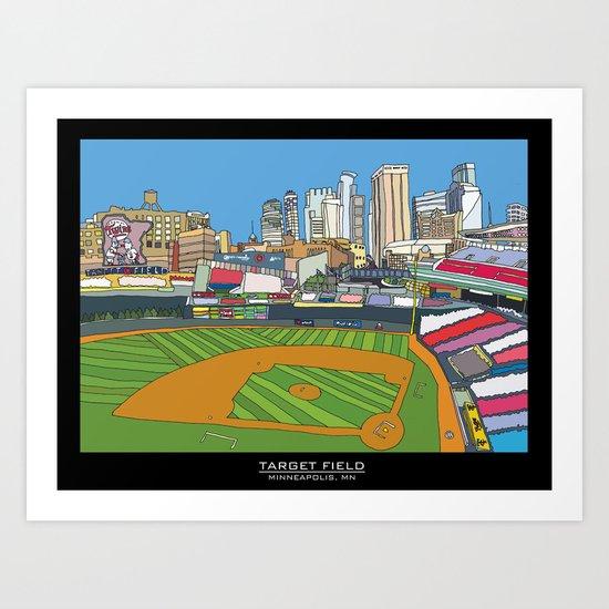 Minnesota Twins Target Field Art Print