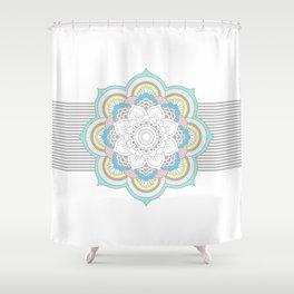 Pastel Mandala Shower Curtain