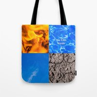 fifth element Tote Bags featuring The Fifth Is Out There or Inside by digital2real