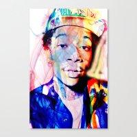 wiz khalifa Canvas Prints featuring wiz khalifa by Nic Moore