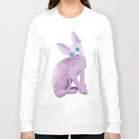sphynx Long Sleeve T-shirts featuring sphynx by terastar