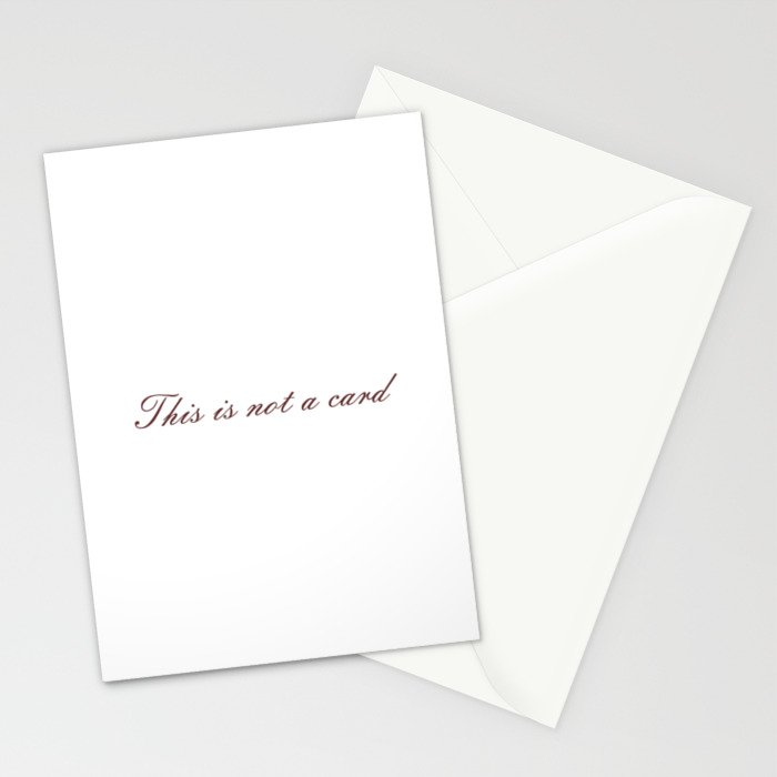 Rene Magritte: This is not a Stationery Cards