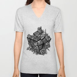 Rubik's World Unisex V-Neck