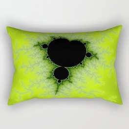 Fractal Mandelbrot Green Rectangular Pillow