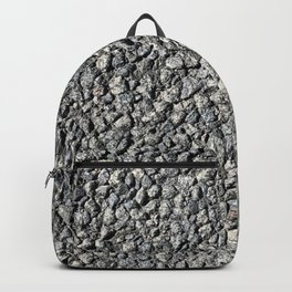 Industrial asphalt gravel road seamless texture pattern for urban art lovers. In cool monochrome style. Backpack