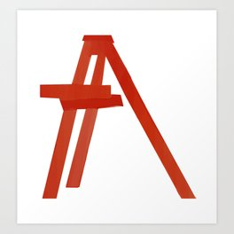 Red stair Art Print