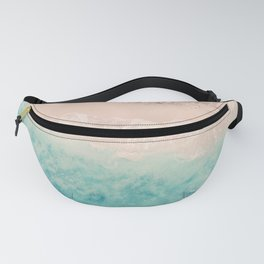 Aerial sea photography, exotic beach, fine art, wanderlust, coral reef, tropical landscape, summer Fanny Pack