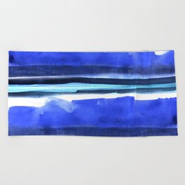 Wave Stripes Abstract Seascape Beach Towel