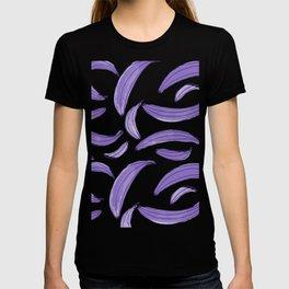 Watercolor bananas - purple T-shirt