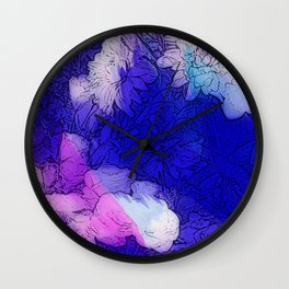 Blue and White. Wall Clock