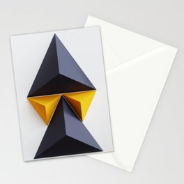 Pyramid traingles, geometric minimal composition Stationery Cards