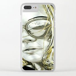 BLACK WHITE AND A LITTLE GOLD COLLECTION Clear iPhone Case