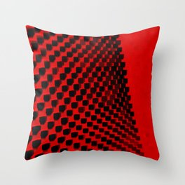 Eye Play in Black and Red Throw Pillow