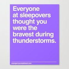 Sleepover Thunderstorms Canvas Print