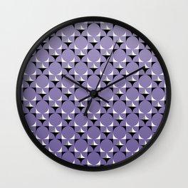 Mod Lt Purple Wall Clock