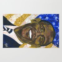 obama Area & Throw Rugs featuring Obama by Stan Kwong