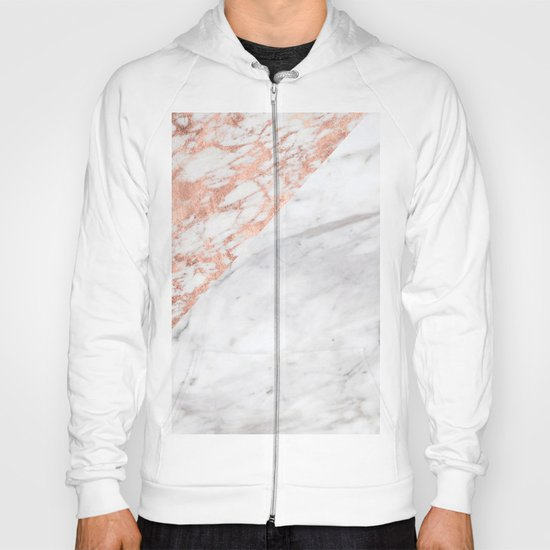 Massarosa Marchionne Bianco rose gold marble Hoody