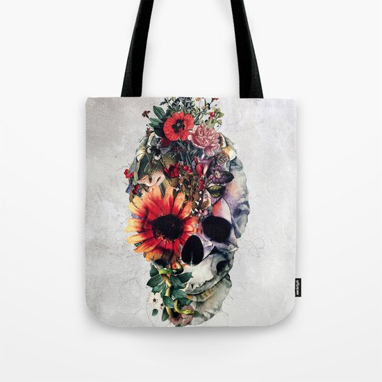 Two Face Skull Tote Bag
