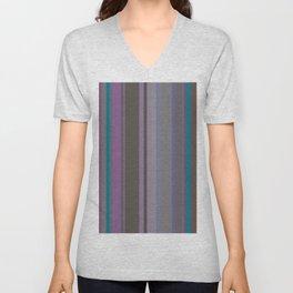 Stripes in colour 14 Unisex V-Neck