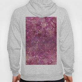 Modern chic faux glitter girly purple pattern Hoody