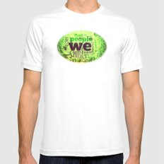 GRASS ROOTS MEDIUM White Mens Fitted Tee