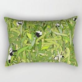 Traveling Pandas in Bamboo Forest Rectangular Pillow
