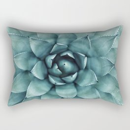 Aloe Green Agave Rectangular Pillow