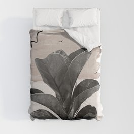Fiddle Leaf Abstract - Naturelle #2 #minimal #wall #decor #art #society6 Comforters