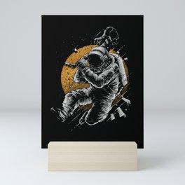 Astronaut E-Guitar Mini Art Print