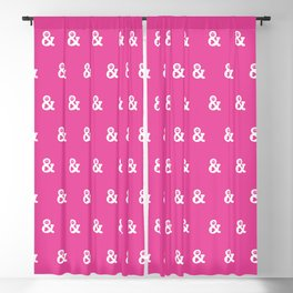 Peace and Love (pink edition) Blackout Curtain