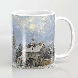"""Camille Pissarro """"Le relais de poste, route de Versailles, Louveciennes, neige"""" Coffee Mug"""