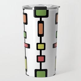 Mid Century Squares Art Travel Mug
