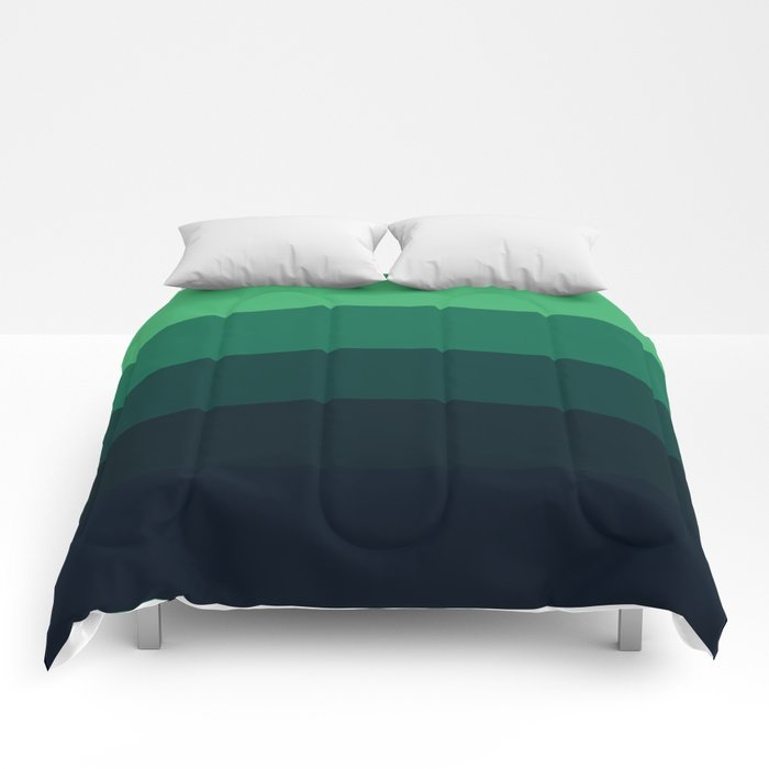 Forest Green Stripes Comforters