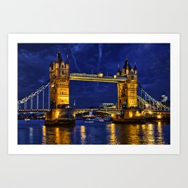 Tower Bridge , London, England, UK Art Print