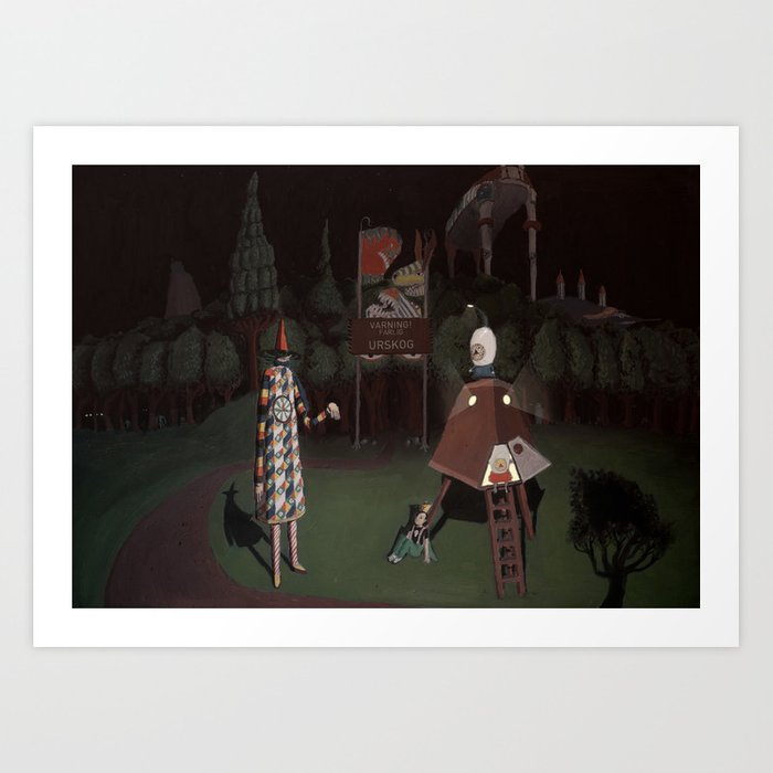 Outside of scary forest Art Print
