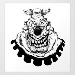 Waffles the Clown Art Print