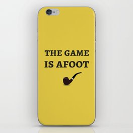 The Sherlock Holmes Quote II iPhone Skin