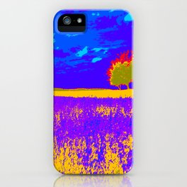Lilac meadow of Provence iPhone Case