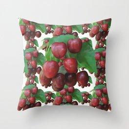 Sour Cherry, watercollor Throw Pillow