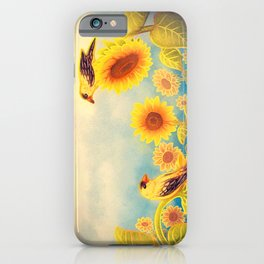 Gold Sunflowers iPhone Case