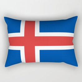 Flag: Iceland Rectangular Pillow