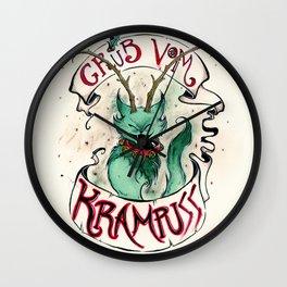 Gruss Vom Krampuss Wall Clock