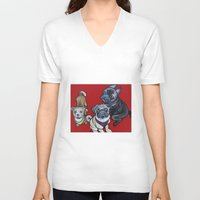 nemo V-neck T-shirts featuring Phoebe Nemo & Stark by Pawblo Picasso