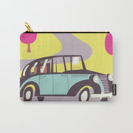 Visit the Seaside vintage car poster Carry-All Pouch
