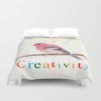 creativity Duvet Covers featuring Creativity by Tammy Kushnir