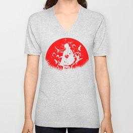 Red Moon Itachi Unisex V-Neck