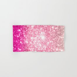 Perfect Pink Ombre Galaxy Sparkle Hand & Bath Towel